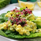 Easy Egg Salad Lettuce Cups