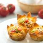Mini Mexican Wonton Quiches