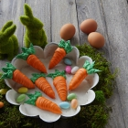 Easter Bunny Carrot Cookies