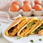 Veggies, Black Bean & Egg Quesadilla