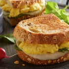 Pesto and Egg Grilled Cheese