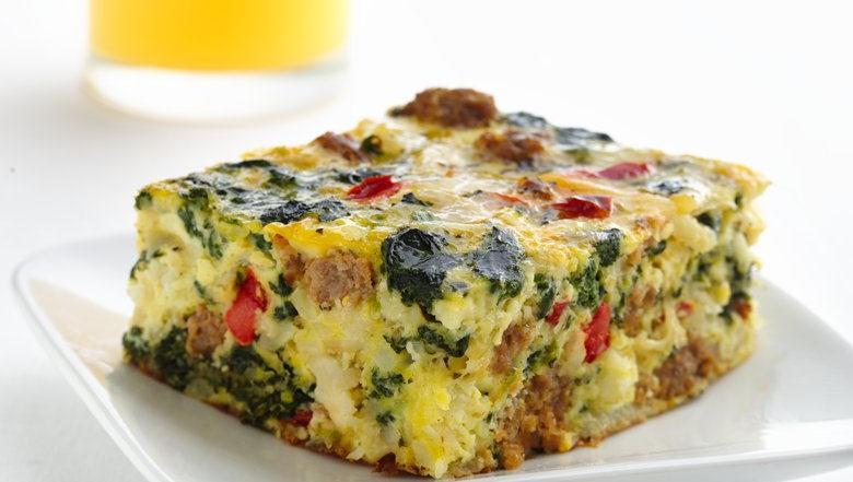 Healthified Italian Sausage Egg Bake